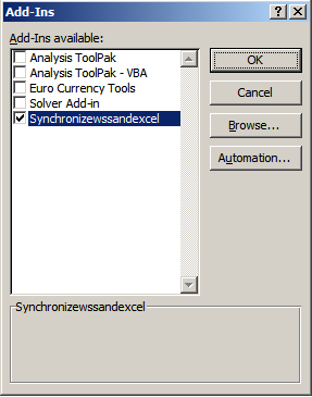 how to enable add ins in excel 2007
