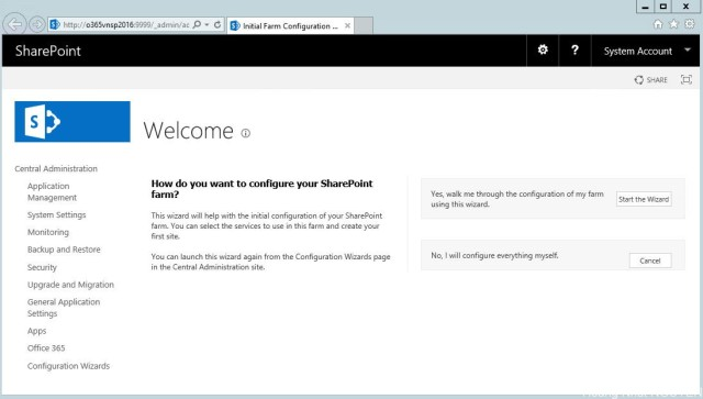 setup sharepoint 2016 - step 16