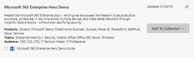 Microsoft demo
